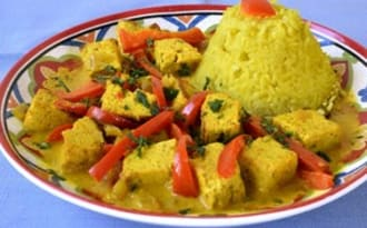 Curry de tofu aux poivrons