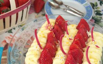 La tarte aux citrons et aux fraises