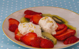 Salade de kiwis et de fraises