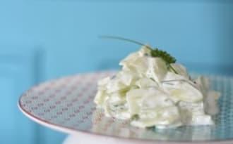 Salade fraiche de concombres au yaourt
