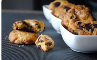 Cookies aux jaunes d'oeufs, oeufs pralinés en chocolat