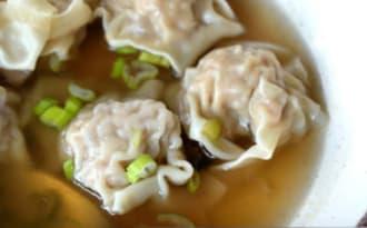 Soupe aux raviolis wonton