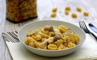 Pastasotto au poulet et champignons