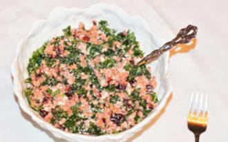 Salade farro, kale et agrumes