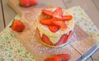 Un délicieux fraisier facile