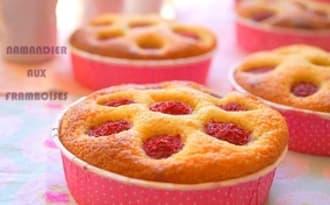Namandier gâteau aux amandes et framboises