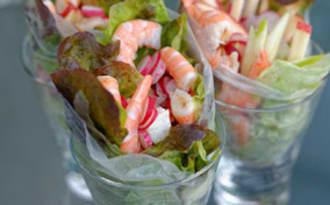 Maki de crevettes, pommes et sauce haddock