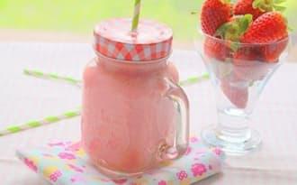 Milk shake aux fraises bananes et babeurre