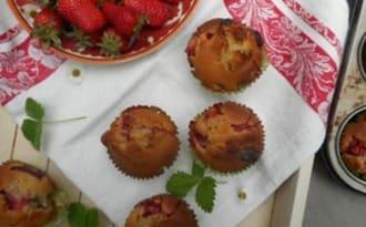 Muffins fraises~chocolat blanc