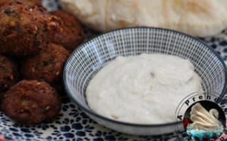 Sauce tahini fait maison pour falafels