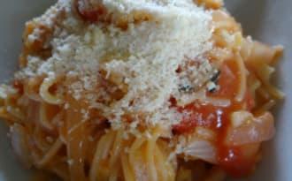 One pot pasta tomate et piment d'Espelette