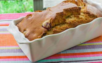 Gâteau du matin cerises amaretto