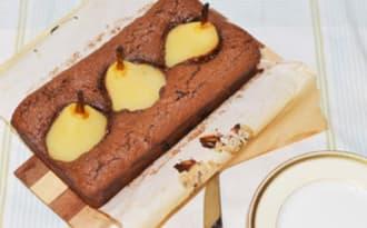 Cake ultra-fondant chocolat, poire