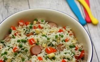 Salade de riz composée