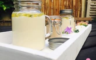 Panna cotta vanille fruits de la passion