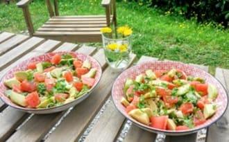 Salade acidulée et sa vinaigrette au pamplemousse