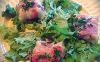 Salade aux involtinis de chèvre