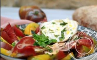 Salade de lentilles corail et burrata à l'italienne