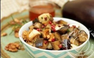 Salade d'aubergine, mozzarella et romarin