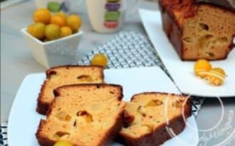 Bread cake à la farine de pois chiches et aux mirabelles