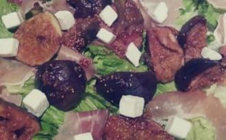 Salade aux figues rôties au miel
