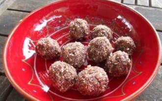 Energy balls chocolat noix de coco