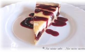 Tarte fromage blanc et ses raisins-cranberries