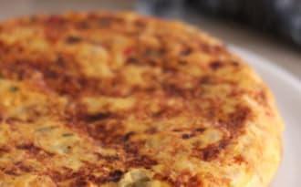 Tortilla poivrons chorizo