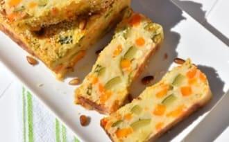 Gâteau de pomme de terre aux légumes