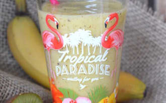 Smoothie kiwi mangue banane