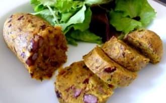Saucisses végétariennes aux haricots