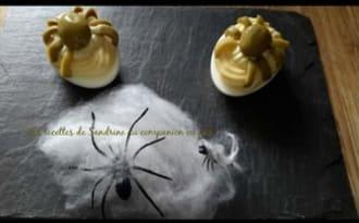 Oeuf araignée d'halloween