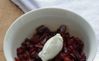 Salade de tiges de Betterave aux échalotes et Crème de Roquefort
