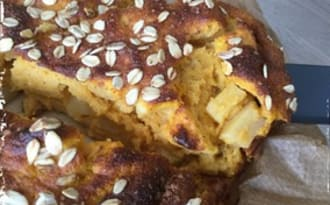 Gâteau aux pommes et sucrine du Berry