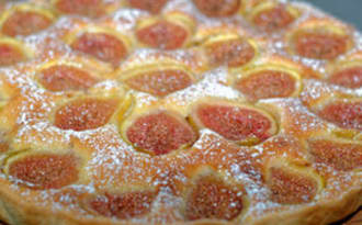 Tarte aux figues blanches