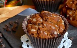 Muffins au butternut, mélasse, épices et chocolat noir