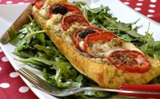 Baguette perdue façon pizza