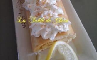Biscuit roulé au lemon curd et sa chantilly