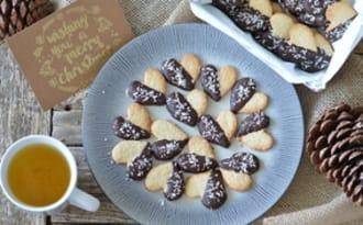 Sablés coeurs coco et chocolat