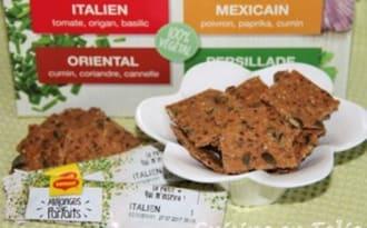 Crackers tomate, origan, basilic
