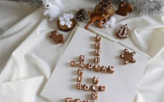 Pain d'épices à la crème de marrons façon Scrabble
