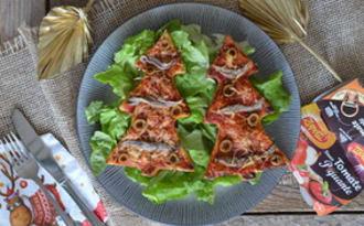 Sapins feuilletés façon pizza