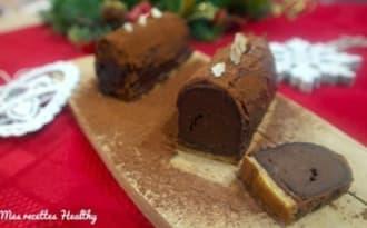 Mini bûche chocolat et marron aux noisettes