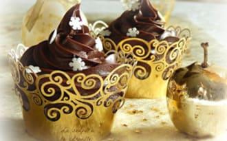 Cupcakes au chocolat pour Noël