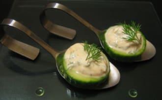 Bouchées apéritives concombre et fromage blanc
