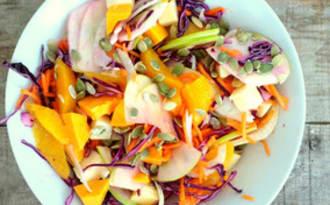 Salade d'hiver ultra gourmande au chou rouge, fenouil