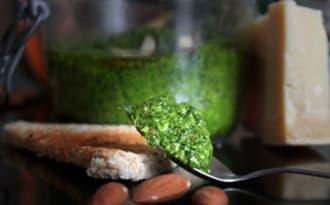 Pesto d'hiver épinards amandes