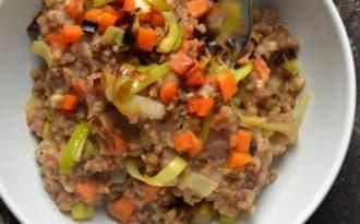 Kacha russe, poireau et carotte