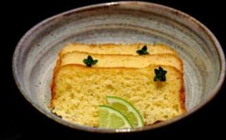 Cake coco, citron vert, liqueur de yuzu
