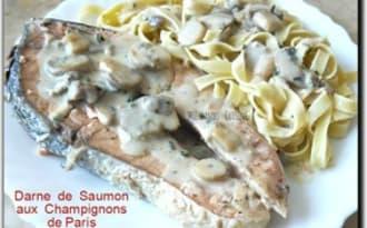 Darnes de saumon aux champignons
